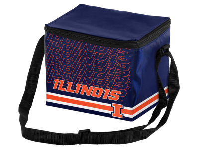 Illinois Fighting Illini 6-pack Lunch Cooler Big Logo