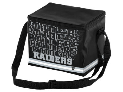 Oakland Raiders 6-pack Lunch Cooler Big Logo