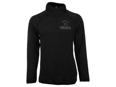 Georgia Bulldogs NCAA Men's Black Ice Field General 1/4 Zip Pullover Shirt