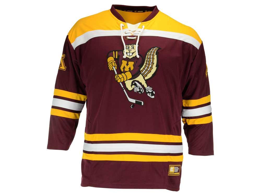 Minnesota Golden Gophers NCAA Men s Cross Check Hockey Jersey  fc17245110c