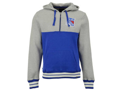 New York Rangers '47 NHL Men's Crossfire Half Zip Hoodie