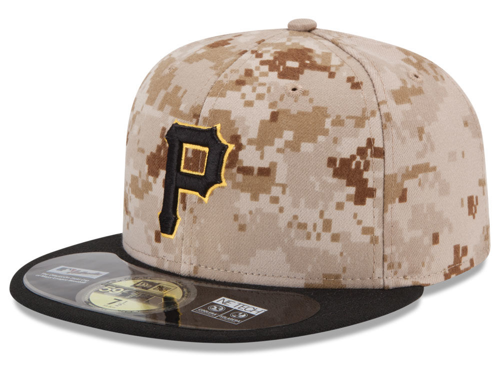 Pittsburgh Pirates New Era MLB Authentic Collection 59FIFTY Cap ... 695ff56a1b5a