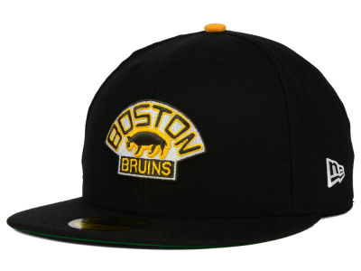 Boston Bruins New Era NHL Vintage Solid 59FIFTY Cap