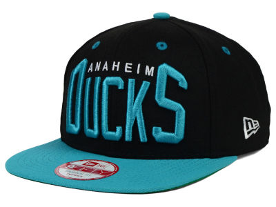 Anaheim Ducks New Era NHL Vintage Big Word 9FIFTY Snapback Cap