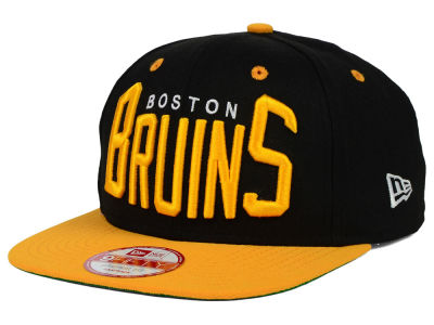 Boston Bruins New Era NHL Vintage Big Word 9FIFTY Snapback Cap