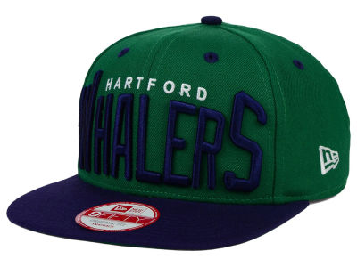 Hartford Whalers New Era NHL Vintage Big Word 9FIFTY Snapback Cap