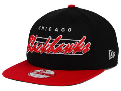 Chicago Blackhawks New Era NHL Vintage Liner 9FIFTY Snapback Cap