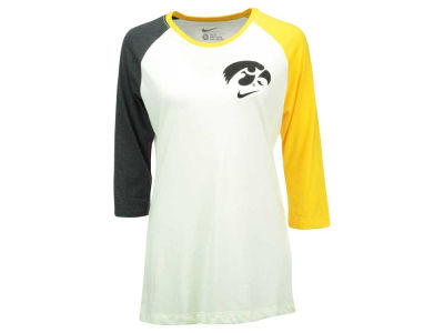 Iowa Hawkeyes Nike NCAA Women's Tri Strong Raglan T-Shirt