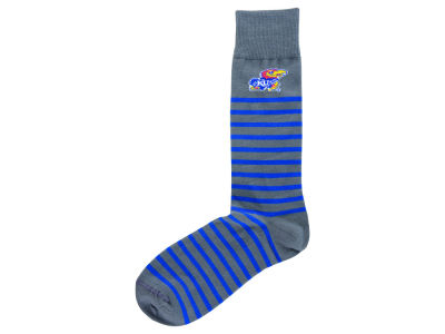 Kansas Jayhawks For Bare Feet Thin Stripes Socks