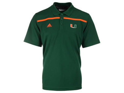 Miami Hurricanes adidas NCAA Men's Sideline Coaches Polo Shirt