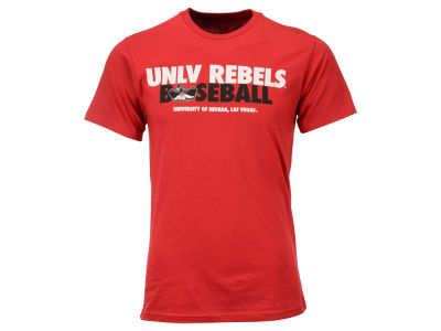 UNLV Runnin Rebels Retro Brand NCAA Men's Basketball Stacked Short Sleeve T-shirt