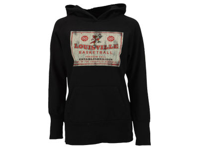 Louisville Cardinals NCAA Women's Retro Basketball Mascot Pullover Hoodie