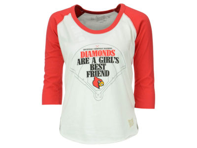 Louisville Cardinals NCAA Women's Softball Diamond Best Friend Raglan T-Shirt