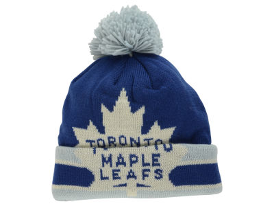 Toronto Maple Leafs Reebok NHL CCM Oversized Logo Cuffed Pom Knit