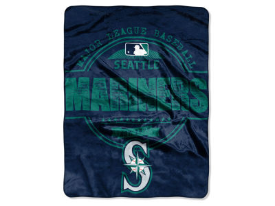 Seattle Mariners Micro Raschel 46inch x 60inch Structure Blanket