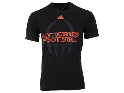 Miami Hurricanes adidas NCAA Men's Sideline Helmet Shock T-Shirt