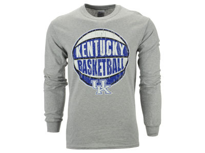 Kentucky Wildcats NCAA Men's Distressed Basketball Long Sleeve T-Shirt