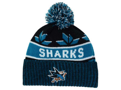 San Jose Sharks Old Time Hockey NHL Dasher Pom Knit