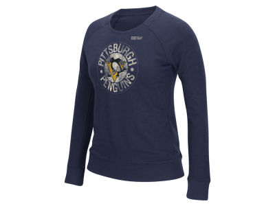 Pittsburgh Penguins Reebok NHL Women's Bigger Logo Crew Sweatshirt