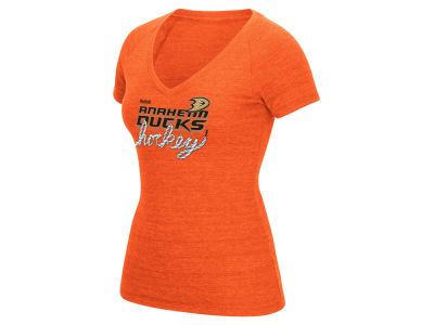 Anaheim Ducks Reebok NHL Womens Laced Up T-Shirt
