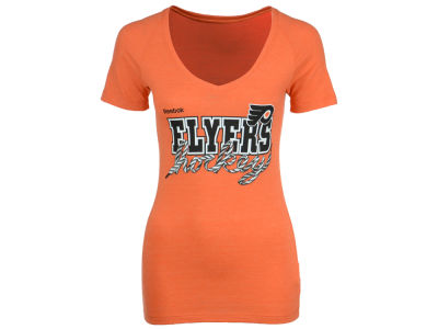 Philadelphia Flyers Reebok NHL Womens Laced Up T-Shirt
