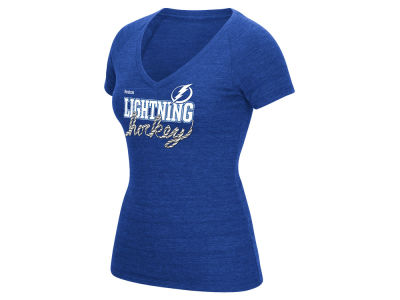Tampa Bay Lightning Reebok NHL Womens Laced Up T-Shirt