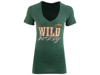 Minnesota Wild Reebok NHL Womens Laced Up T-Shirt
