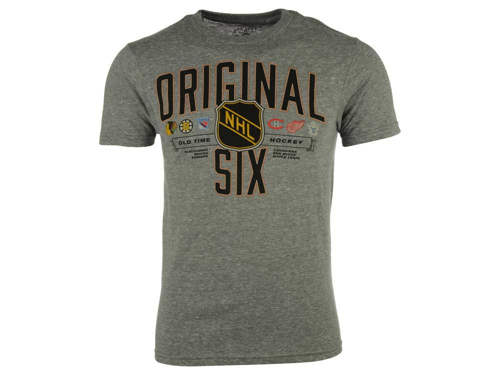 NHL Original 6 Old Time Hockey NHL Men s Strassman T-Shirt  562f06b1e