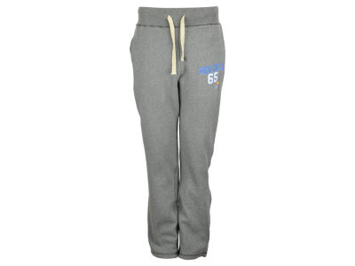 Kansas Jayhawks Blue 84 NCAA Men's Sanded Fleece Open Bottom Pants
