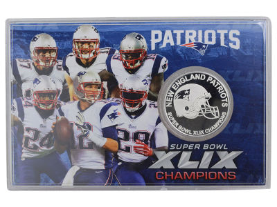 New England Patriots Super Bowl Champs 2015 Coin Card