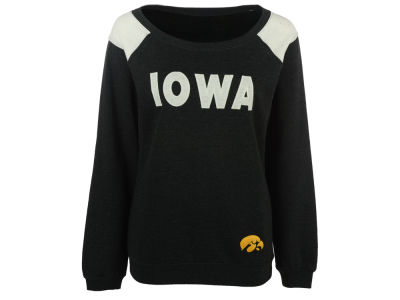 Iowa Hawkeyes NCAA Women's Tempest Boatneck Fleece Sweatshirt