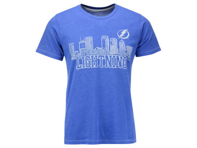 Tampa Bay Lightning Majestic NHL Men's Triblend Contrast Stitch Skyline T-Shirt