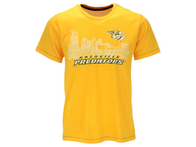 Nashville Predators Majestic NHL Men's Triblend Contrast Stitch Skyline T-Shirt