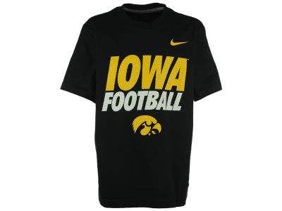 Iowa Hawkeyes Nike NCAA Youth Football Cotton Practice T-Shirt