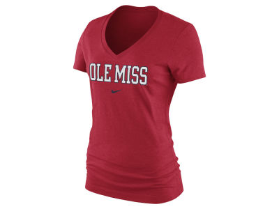 Ole Miss Rebels Nike NCAA Women's Arch Cotton Mid V-Neck T-Shirt