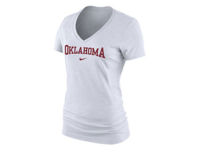 Oklahoma Sooners Nike NCAA Women's Arch Cotton Mid V-Neck T-Shirt