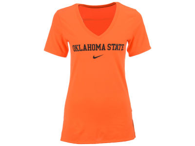 Oklahoma State Cowboys Nike NCAA Women's Arch Cotton Mid V-Neck T-Shirt