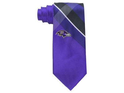Baltimore Ravens Woven Poly Grid Tie