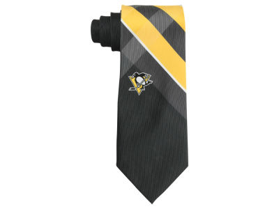 Pittsburgh Penguins Woven Poly Grid Tie