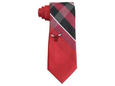 Chicago Bulls Woven Poly Grid Tie