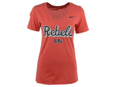 Ole Miss Rebels Nike NCAA Women's Mid V-Neck Script T-Shirt