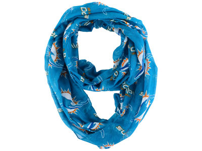 Miami Dolphins All Over Logo Infinity Wrap Scarf