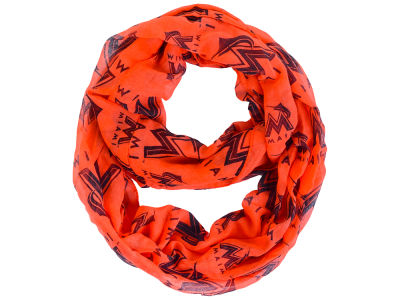 Miami Marlins All Over Logo Infinity Wrap Scarf