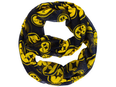 Pittsburgh Steelers All Over Logo Infinity Wrap Scarf