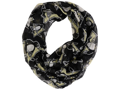 Pittsburgh Penguins All Over Logo Infinity Wrap Scarf