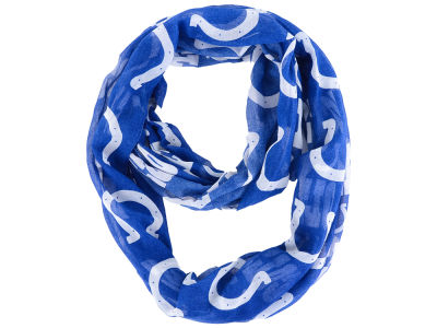 Indianapolis Colts All Over Logo Infinity Wrap Scarf