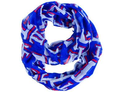 Texas Rangers All Over Logo Infinity Wrap Scarf