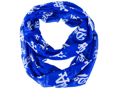 Los Angeles Dodgers All Over Logo Infinity Wrap Scarf