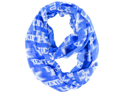 Kentucky Wildcats All Over Logo Infinity Wrap Scarf