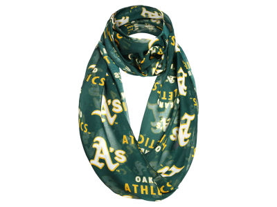Oakland Athletics All Over Logo Infinity Wrap Scarf